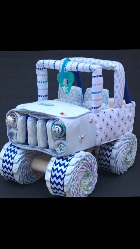 Items Similar To Baby Its Cold Outside Jeep Diaper Cake