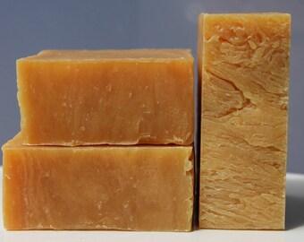 Orange Lemongrass Goats Milk Bar Soap