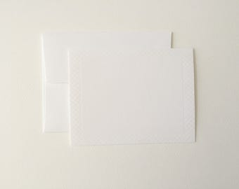 Blind Press Letterpress Note Cards