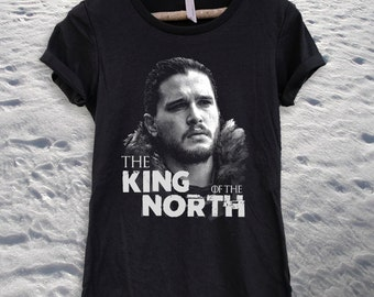 Game Of Thrones Jon Snow The King of the North Ladies T-shirt- Shirt-Tee-Graphic-Got-HBO