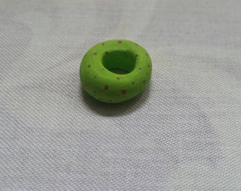 Small Green Dread Bead