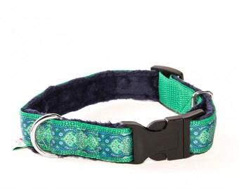 Extra Soft Handmade Dog Collar Elegant Doggie