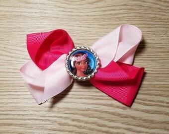 10 Pieces - Princess Moana Hair Bows Party Favors