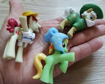 My Little Pony CAKE TOPPER Set of 3 figures. Flam, Apple Munchies, Apple Strudel