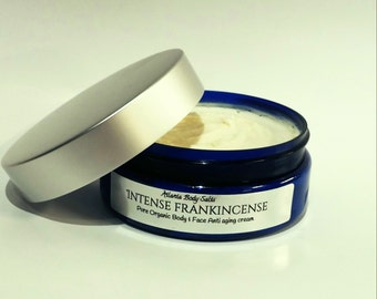 Intense Frankincense 4.5 oz anti aging cream for body and face organic cream organic frankincense cream