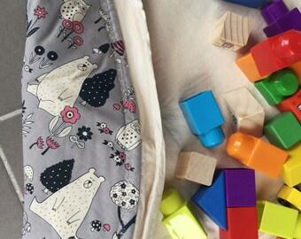 Padded Play Mat / Round Toy Storage Bag