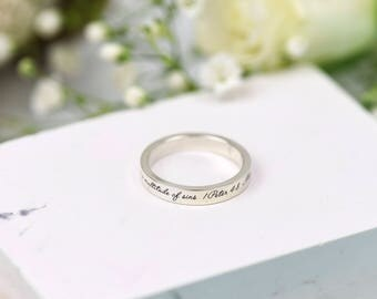 Wedding Band - 1 Peter 4:8 - Silver band - Silver Ring - Bible Verse - Anniversary Gift - Wedding Rings - Custom Rings