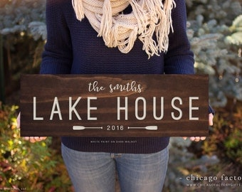 Custom Lake House Signs, Lake House Sign, Family Established Sign, Last Name Sign, Lakehouse Sign, Housewarming Gift, Birthday Gift (GP1085)