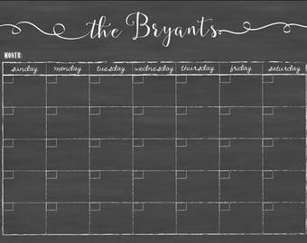 Custom calendar / Farmhouse calendar / menu planner / wall calendar #18.C2.H
