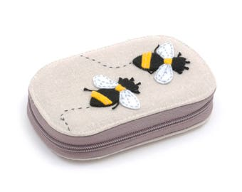 Applique Sewing Kit - Zip Case with Contents: Bumble Bee Design