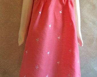 Size 6 Pink flamingo dress - Adore the Cloth