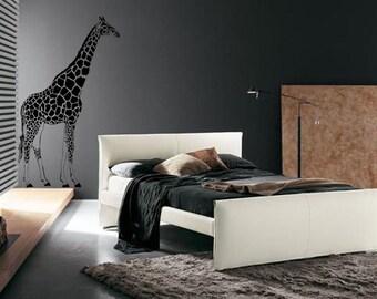 Large 7ft African Giraffe Vinyl Wall Art Decal