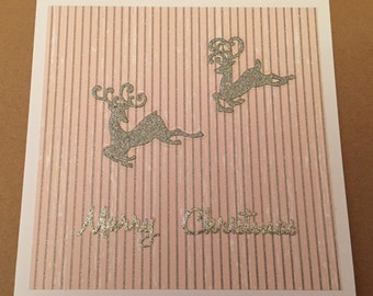 Handmade Deer Christmas Card