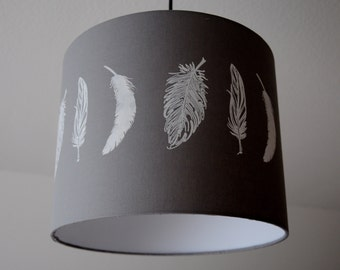 """Lampshade """"Feathers"""" (Feather) Stonegrey"""