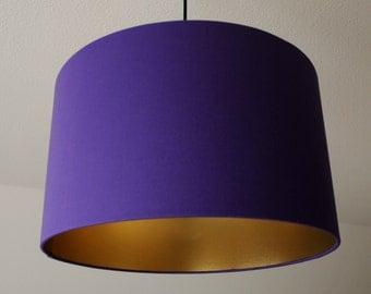 "Lampshade ""Purple-gold"" (purple)"