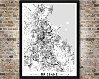 Every Road in Brisbane map art | High-res digital Australia map print | Brisbane print | Brisbane poster | Wall art print | Unique gift idea