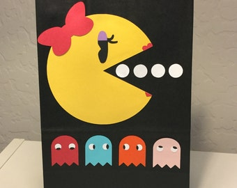 Ms. Pac-Man Party Bags & Cupcake Toppers (UPDATED)