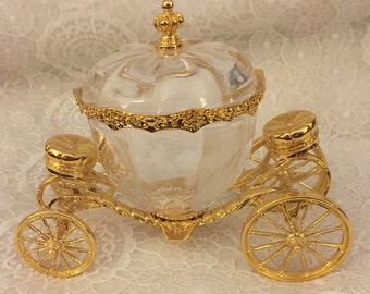 Retired ~ Franklin Mint Disney Cinderella Carriage, Crystal Coach