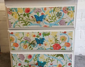 Pair of Solid Wood handpainted bedside cabinets
