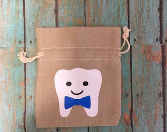 Imperfection Sale - Tooth Fairy Pouch/Bag for Boy