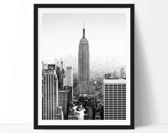 New York City Print, NYC Print, NYC Photo, New York Photo, Black and White Art, New York City Printable, Digital Download, Digital Print