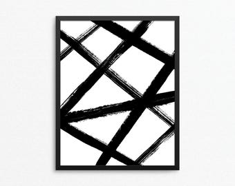 Abstract Print, Abstract Art, Minimal Print, Modern Print, Black and White Art, Modern Art, Minimal Art, Digital Download, Digital Print