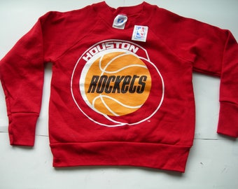 Vintage Houston Rockets NBA basketball red  KIDS  Youth sweatshirt by LOGO7 made in the USA New