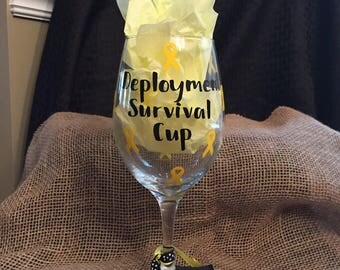 Deployment Survival Cup Wine Glass