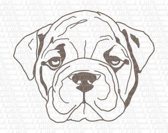 Bulldog Svg Clipart, Dog vector art by SpeecchBubble