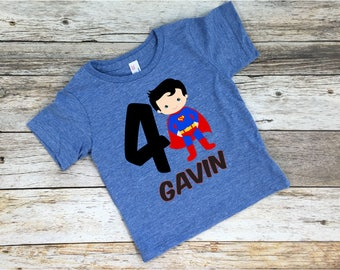 Superman Birthday Shirt. Superman Shirt. Superman Birthday. Superman Party. Custom Superman Shirt. Birthday Shirt.