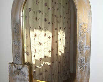 Mirror ,housekeeper, Shabby chic,wooden, gold,