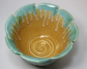Whimsical Ceramic Serving Bowl