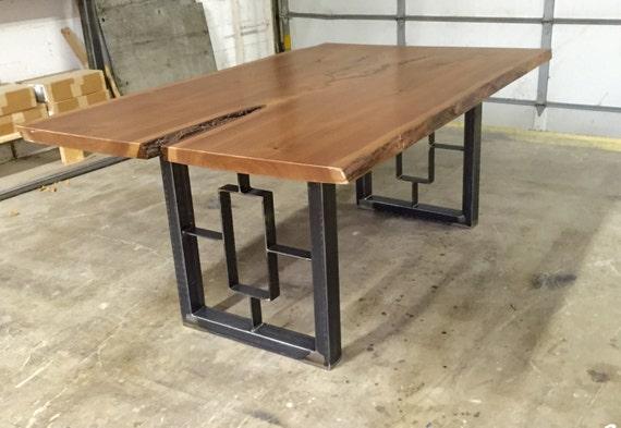 Square rectangular modern dining table legs industrial legs for Square industrial dining table