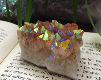 Beautiful chunky Rainbow aura citrine