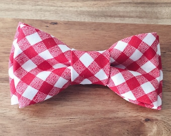 Red Gingham Bow Tie - Infant