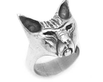 Sphynx Cat Ring in Sterling Silver