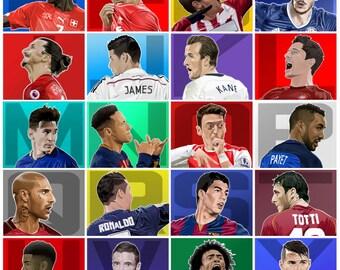 Alphabet of Football Print
