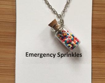 Emergency Sprinkles Necklace