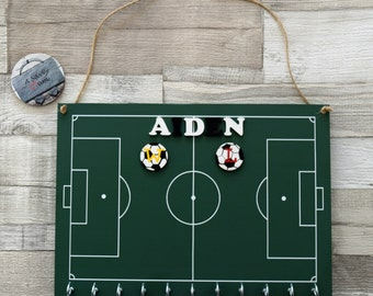Personalised Wooden Football Pitch Medal Plaque, Personalised Wooden Medal Plaque, Personalised Wooden Medal Holder