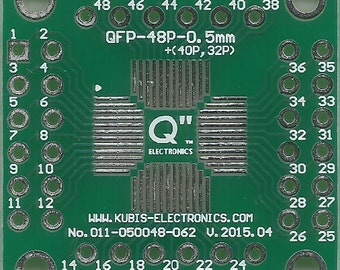 "QFP48 0.50mm(0.02"") to 4 x IDC2x6 connector."