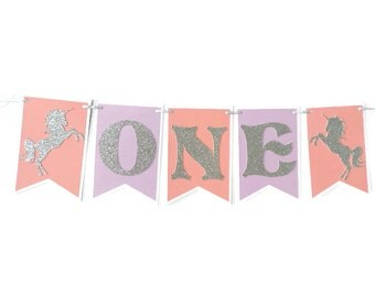 Unicorn Highchair Banner , Happy Birthday banner , Unicorn themed birthday , Unicorn themed birthday banner , Unicorn first birthday banner