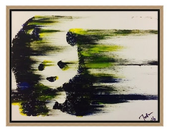 Panda acrylics painting. Handmade. Original, Canvas