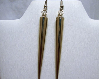 Spiked Earrings, French Hook, Dangle Earrings, Silver Tone Earrings, Fashion Jewelry