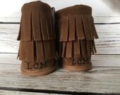 Custom McGrory's  Monogram Baby Boots, Baby Moccasins, Crib Shoes, Custom monogram baby boots