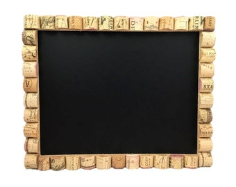 Wine Cork Chalkboard, Chalkboard and Cork Board, Message Center, Home Organization, Kitchen Chalkboard, Home Decor, Chalkboard, Gift for Her