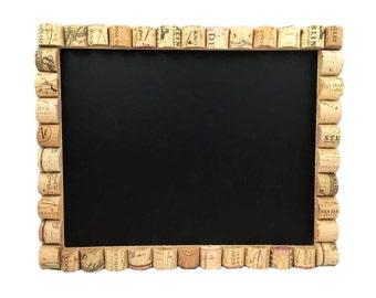 Wine Cork Chalkboard, Cork Board With Chalkboard, Message Center, Home  Organization, Kitchen