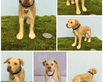 "Custom Made Needle Felted Dogs ""Mini-Pup"""
