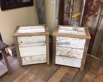 Reclaimed Barn Wood Night Stands or End Tables