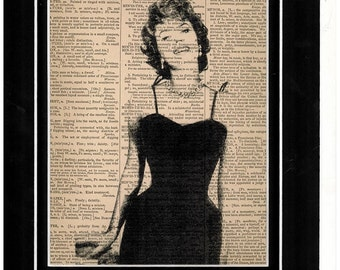 Sophia loren Vintage Dictionary art
