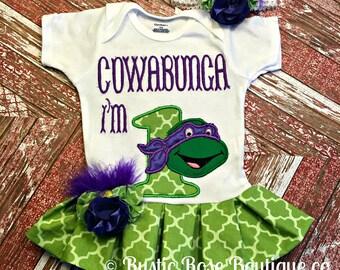Ninja birthday, Birthday outfit, First birthday, Turtle birthday,Clothing, Clothes, turtle shirt, Ninja, Boutique, girls shirt, turtle,